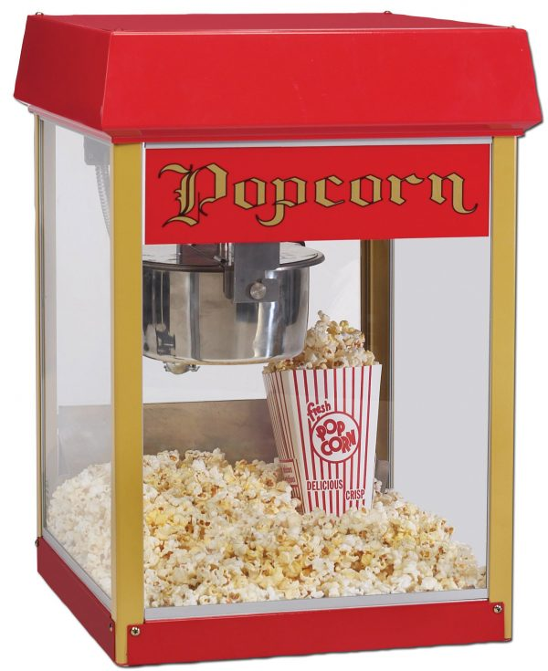 4oz Fun Pop Popcorn Machine / Popper with E-Z Kleen / Uni-Maxx Stainless Steel Kettle