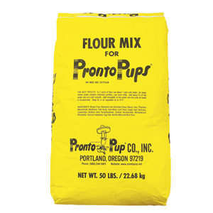 One 50 lb  bag of Pronto Pup corn dog Flour Mix