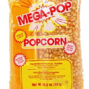Mega-Pop Popcorn, Oil & Salt Kit for 16oz Kettles with Artificial Butter Flavor