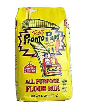 5lb Bag of Tasty Pronto Pup Flour Mix for Fair Style Corn Dogs